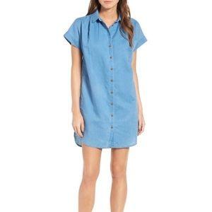 NWT Madewell Button Down Linen Blend Shirtdress